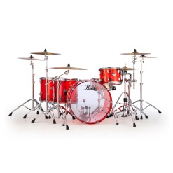 Pearl Crystal Beat Rock - Ruby Red